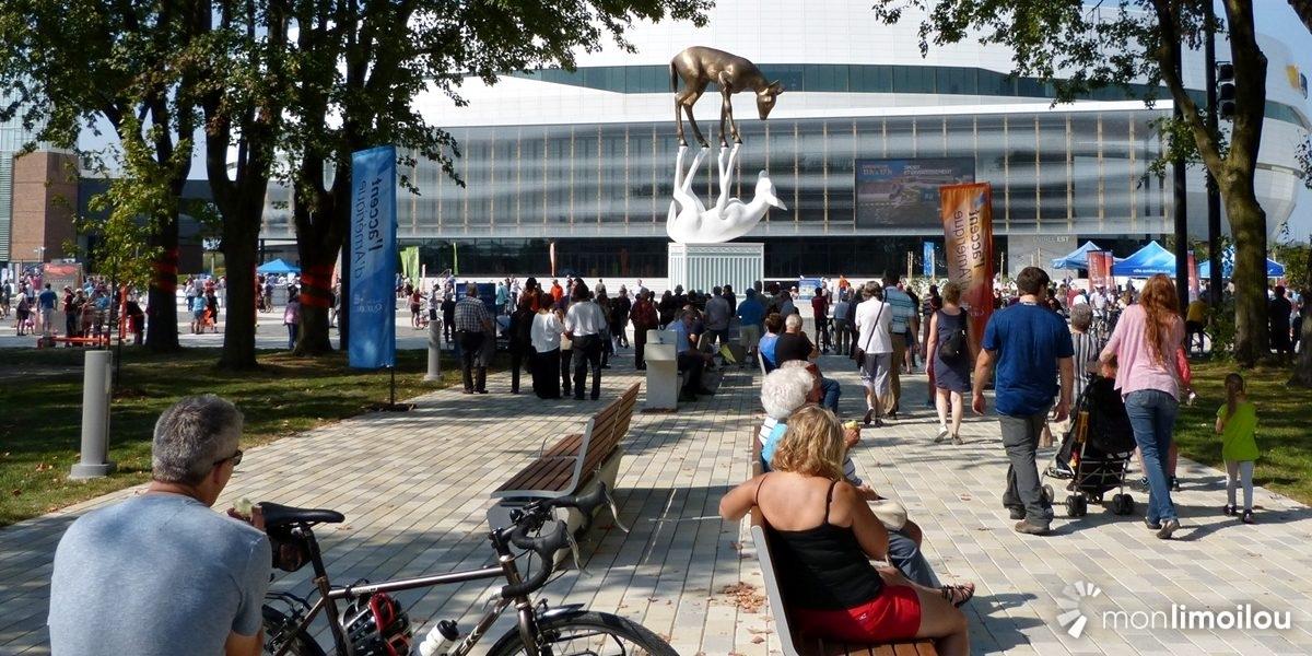Centre Vidéotron et place Jean-Béliveau. 17 septembre 2017.