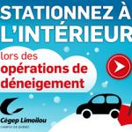 Stationnez au Cégep cet hiver | Cégep Limoilou