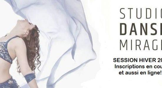 Session Hiver 2018: Inscriptions aux cours du Studio Danse Mirage