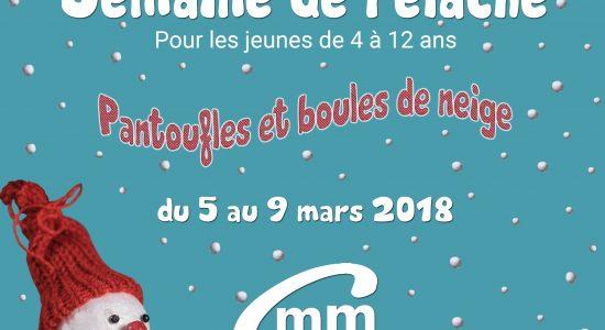 Inscriptions – Semaine de relâche 2018 au Centre Mgr Marcoux !