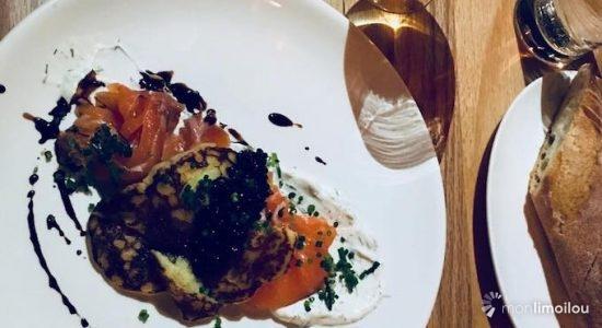 Gravlax de saumon et crêpe parmentière