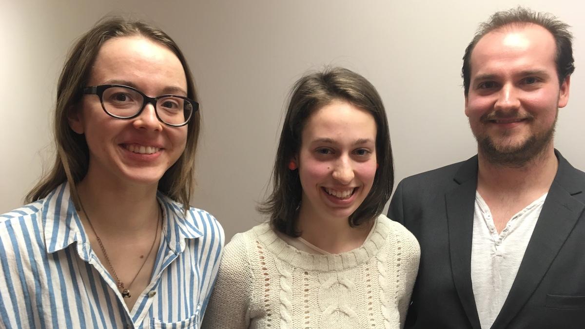 Gabrielle Tessier, Isabelle Jobin et Frédéric Govaerts, étudiants en architecture à l'Université Laval, participent à la réalisation de l'édition 2018 du SPOT.