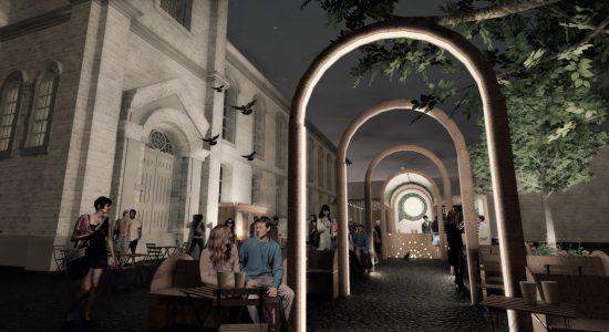 Le resto-bar «Y'a du monde à messe !» évoque les caractéristiques de l'église par son architecture, la disposition des aménagements, les ambiances recréées (STGM/AD-HOC)...