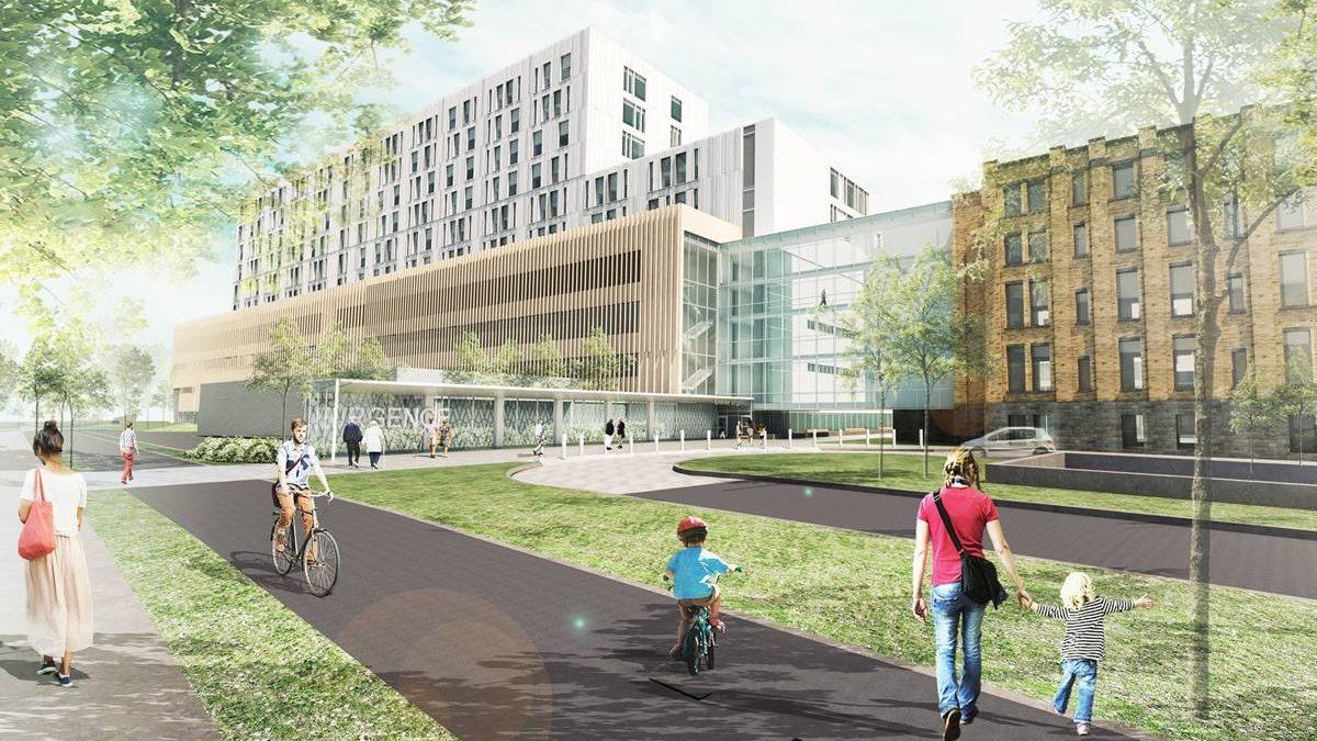 Futur chantier de la phase 2.   Image comparative de la photo précédente.