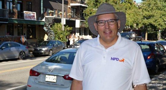 Raymond Côté, candidat du Nouveau Parti démocratique du Québec dans Jean-Lesage - Baptiste Piguet
