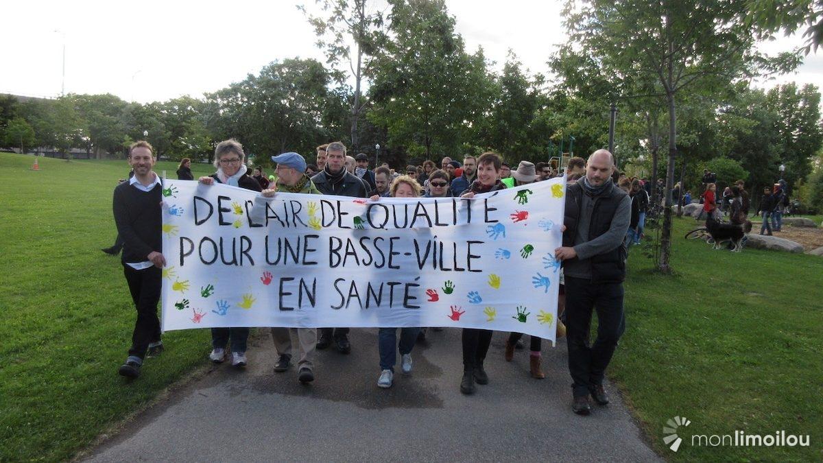 Des familles en marche pour la qualité de l'air en Basse-Ville | 25 septembre 2018 | Article par Vincent Auclair