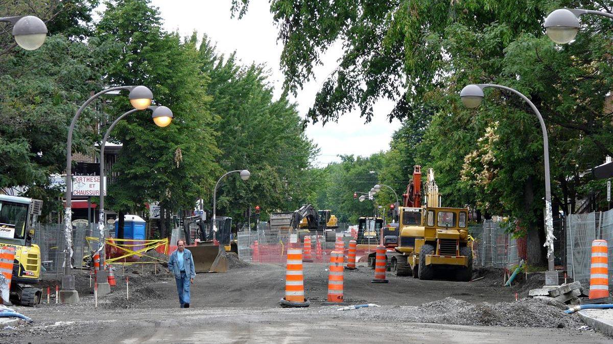 Aperçu des travaux en direction nord en date du en date du 24 juin 2010.
