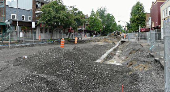 Aperçu des travaux au voisinage du Valentine (à droite) en date du en date du 24 juin 2010.