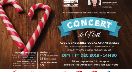 Concert de Noël de l'Ensemble vocal Chanterelle