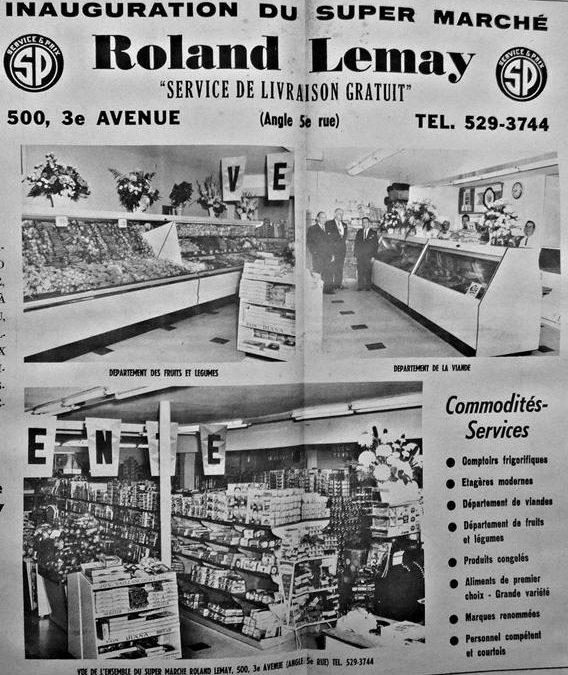 Publicité parue dans Le Courrier de Limoilou, 21 février 1964