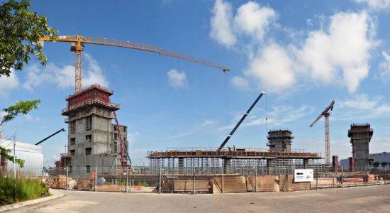 Le Centre Vidéotron en construction. 18 juillet 2013.