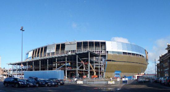 Le Centre Vidéotron en construction. 5 septembre 2014.