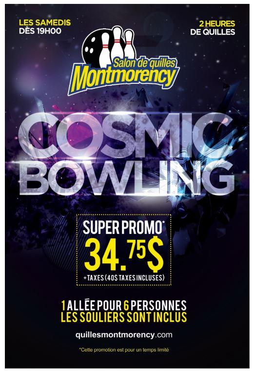 Promo 2 heures de quilles les samedis | Quilles Montmorency