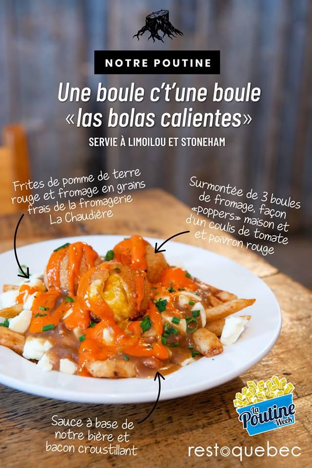 Poutine une boule s'tune boule « las bolas calientes » pour La Poutine Week | Brasserie artisanale La Souche