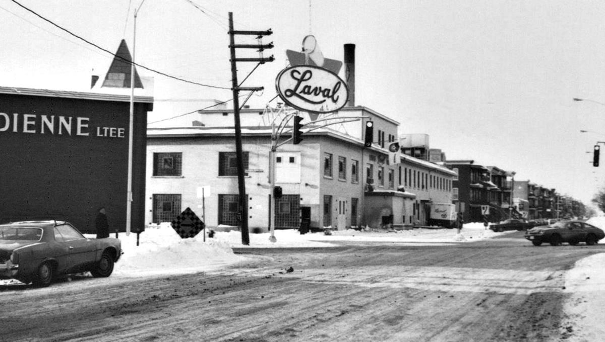 Laiterie Laval sur la 4e Avenue, photo prise entre 1968 et 1975