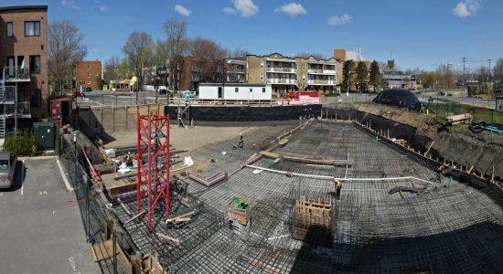 Le chantier, peu avant la pose de la grue. 22 mai 2019.