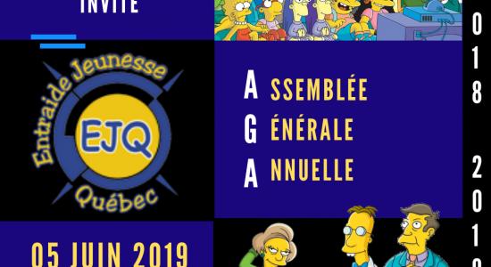 Assemblée générale annuelle Entraide Jeunesse Québec 2018-2019