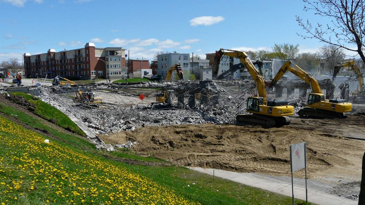 Étape des travaux en date du 12 mai 2012.