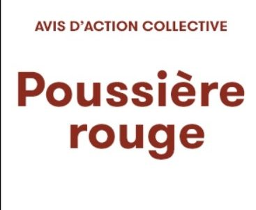 Séances publiques d'information pour réclamation Poussière rouge