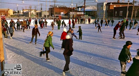 La patinoire du parc Marchand, en 1969.