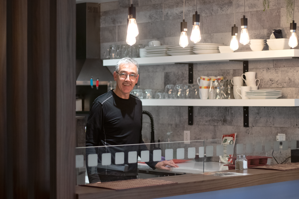 Daniel Guimond dans la nouvelle cuisine