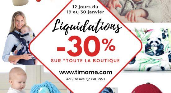 -30% sur toute la boutique Timôme et merveilles (sur place et en ligne) | Timôme et merveilles
