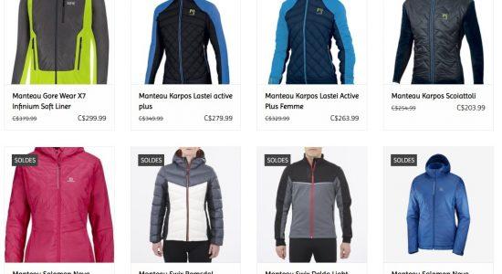 Vestes en soldes | Demers bicyclettes et ski de fond