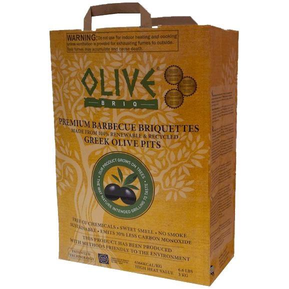 Briquettes de charbon de noyau d'olives, 3 kg   Quincaillerie Limoilou