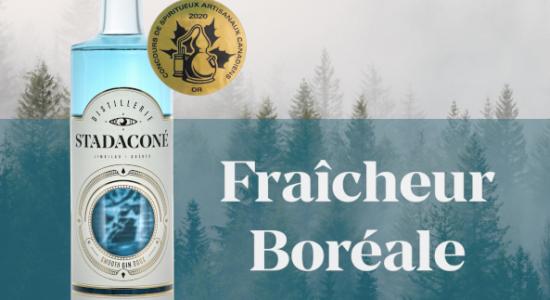 Gin bleu Stadaconé, médaille d'or au Canadian Artisan Spirit Competition 2020 | Distillerie Stadaconé