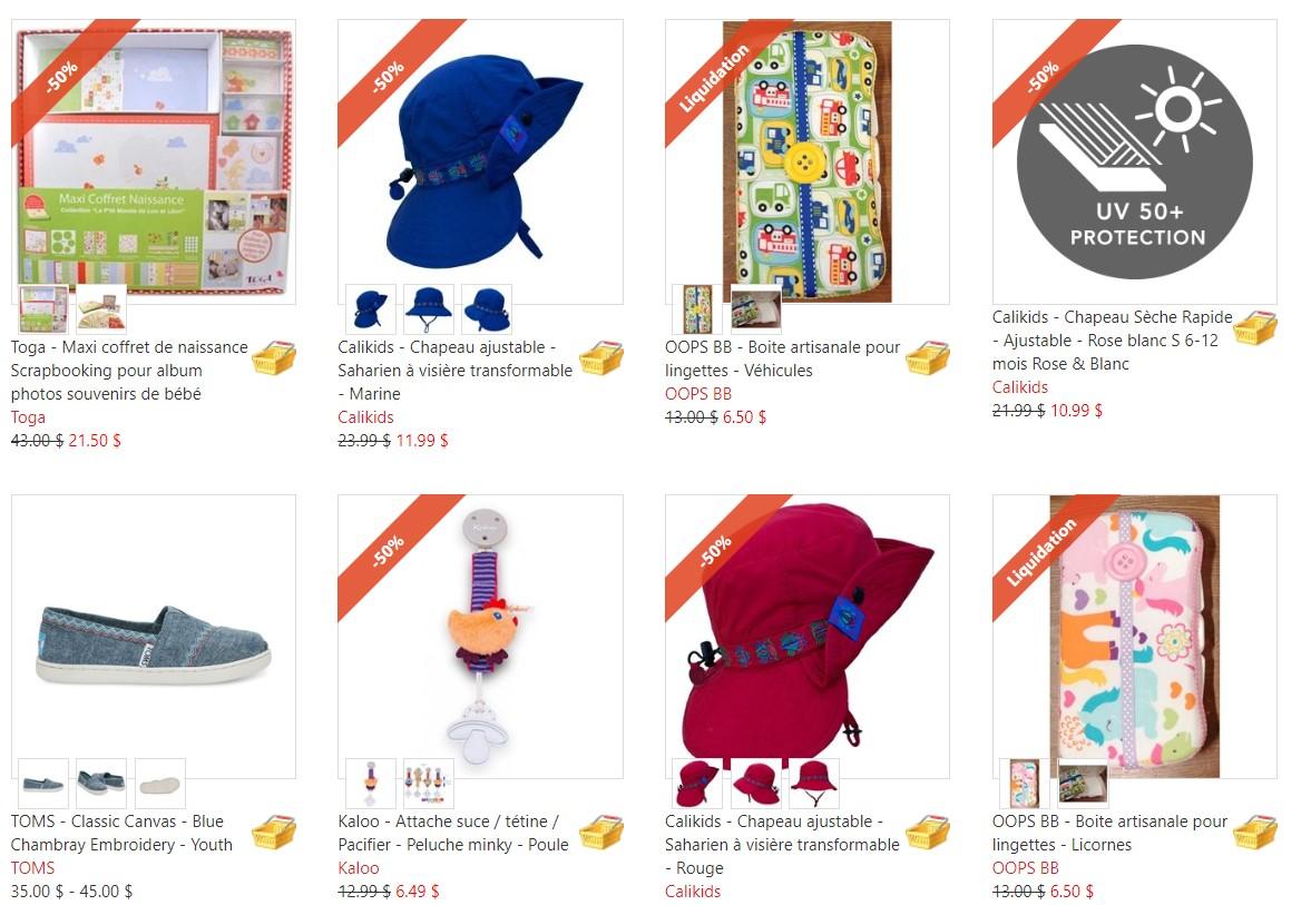 LIQUIDATION : Rabais de -50% sur certains produits pour bébés et enfants | Timôme et merveilles