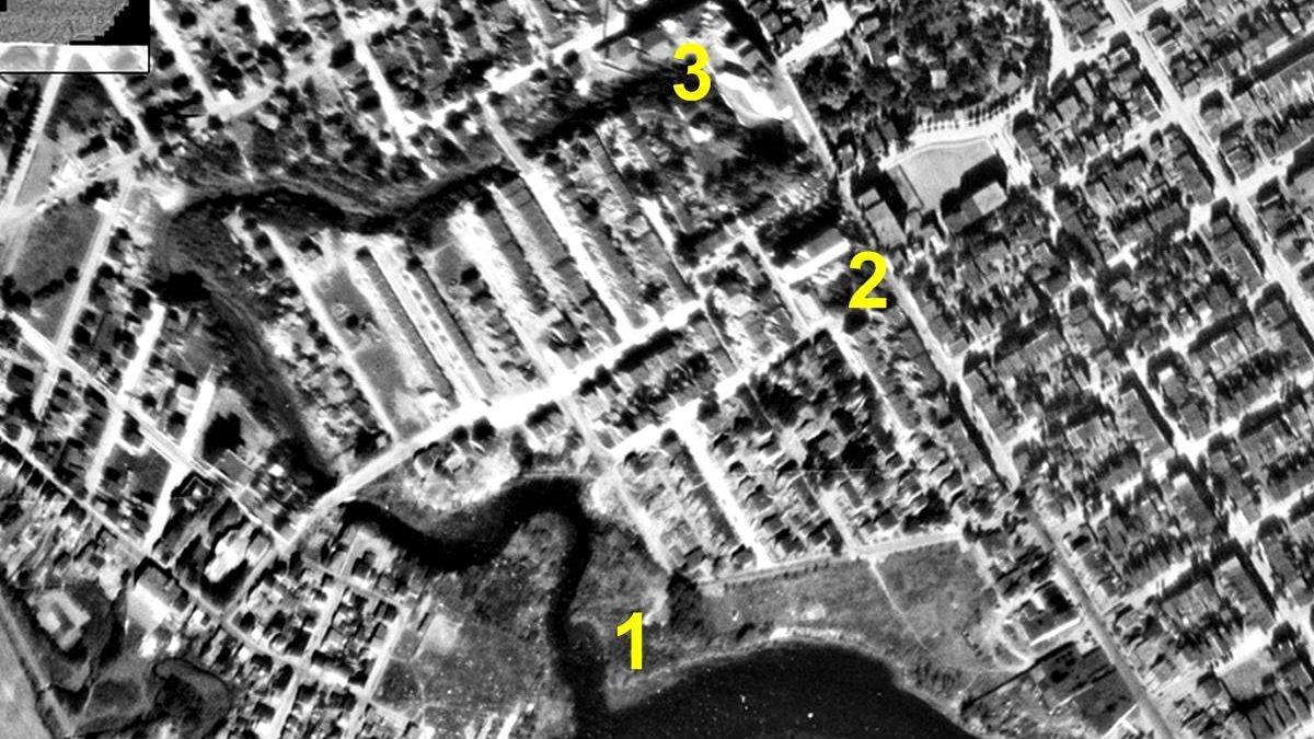 Parcours de la Lairet en 1948.