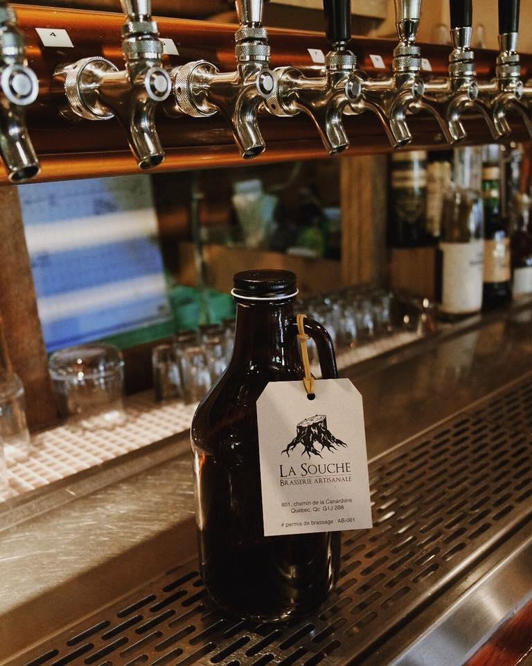 Cruchon de bière à emporter | La Souche Microbrasserie-Restaurant