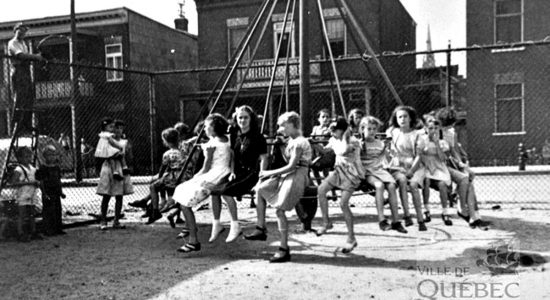 Limoilou dans les années 1940 (39) : le parc d'Iberville - Jean Cazes