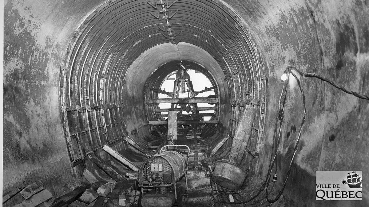 Canalisation de la Lairet. Années 1960.