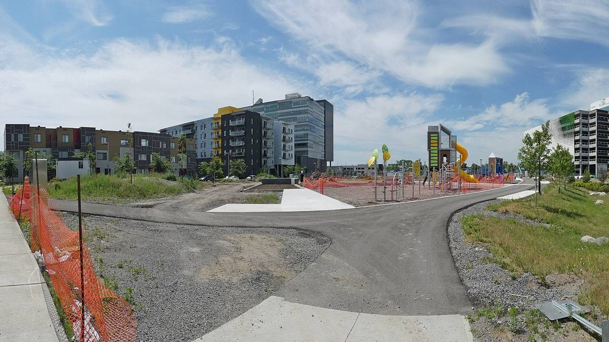 Écoquartier D'Estimauville : aménagement des aires communautaires. 2 juillet 2020.