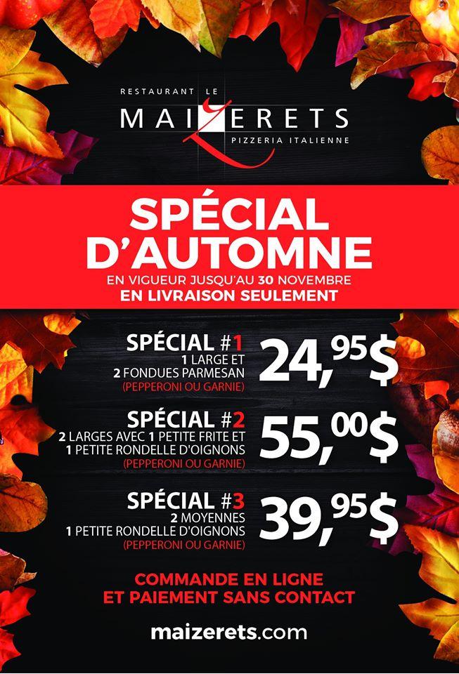 Pizza – Spécial livraison d'automne | Maizerets (Le)