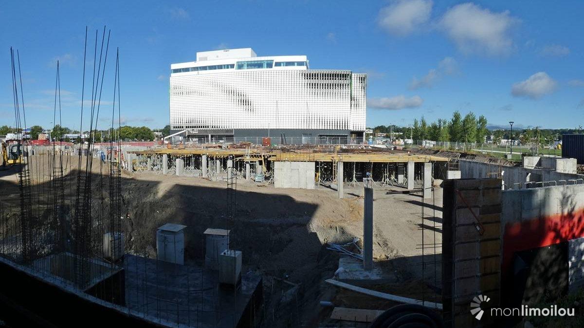 Vue du chantier en direction nord-ouest. 5 septembre 2020.