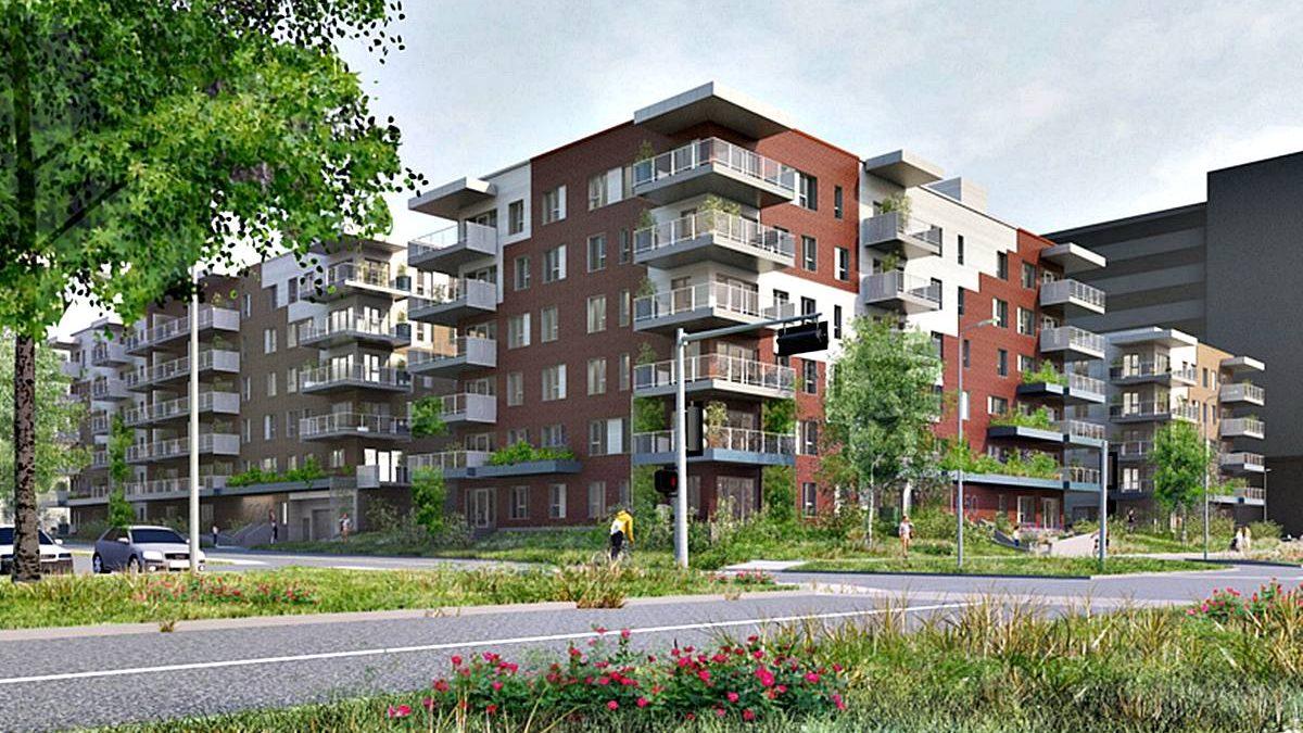 Axcès Trigone Destimo : 192 logements s'ajoutent dans l'écoquartier D'Estimauville | 24 septembre 2020 | Article par Jean Cazes