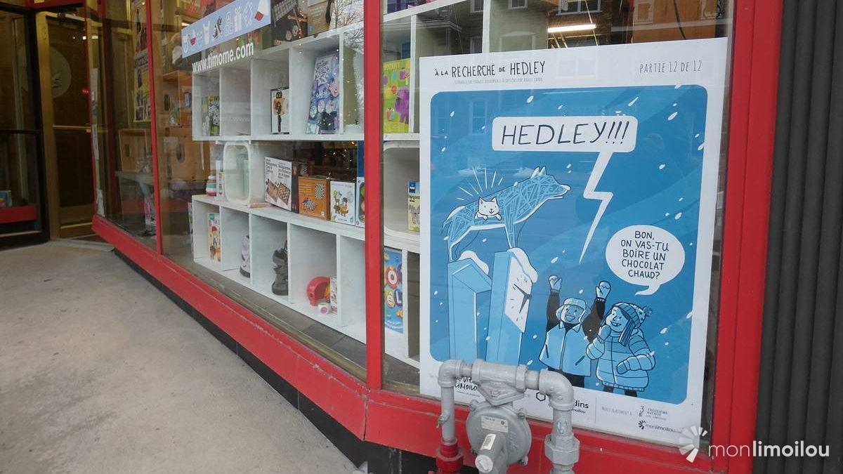 <em>À la recherche de Hedley</em> : une BD dans les vitrines de la 3e Avenue | 14 décembre 2020 | Article par Suzie Genest