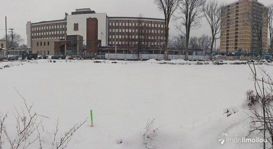 Le site du projet ACERO, face à l'hôpital Saint-François d'Assise. 22 décembre 2020.
