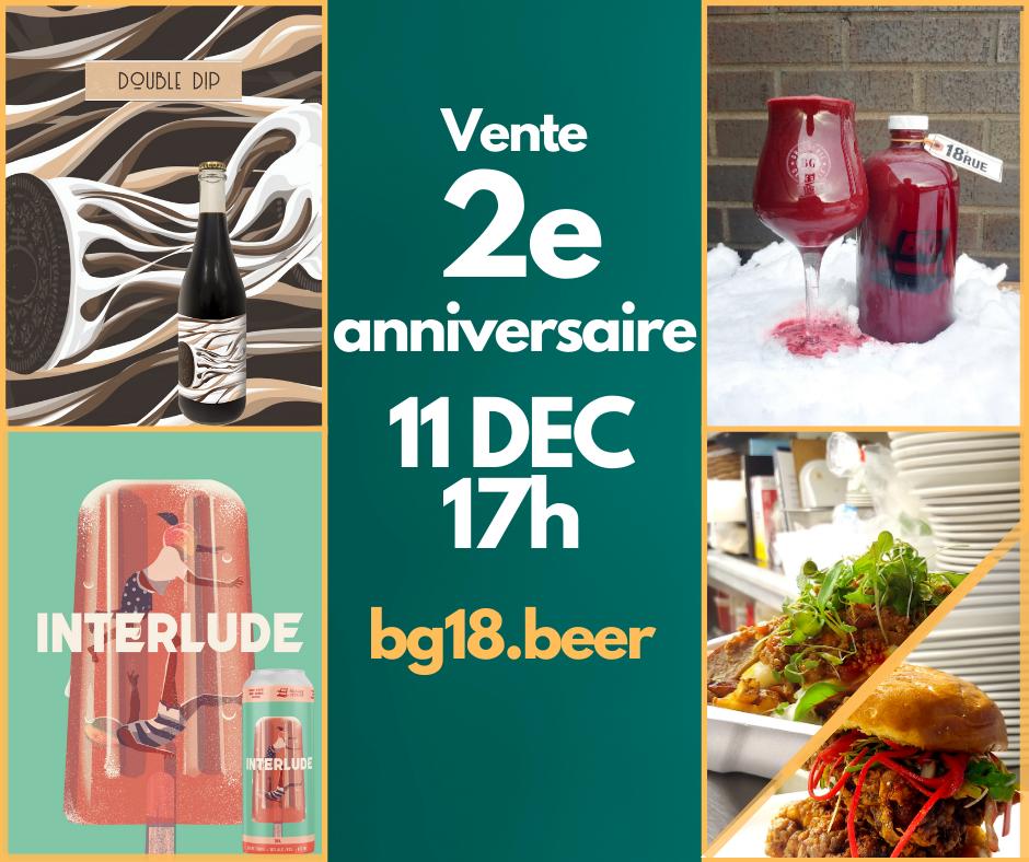 Bières 2e anniversaire de la Brasserie Générale   Brasserie Générale - 18e Rue