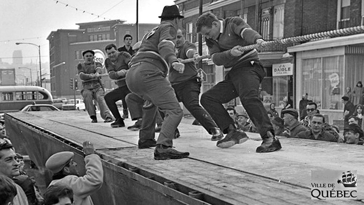 Limoilou dans les années 1960 (135) : compétition de souque à la corde | 7 février 2021 | Article par Jean Cazes