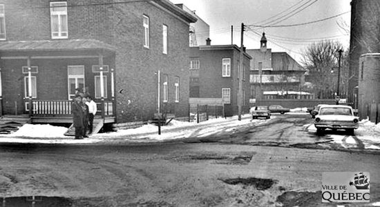 Limoilou dans les années 1960 : intersection 3e Rue – 9e Avenue avant l'autoroute - Jean Cazes