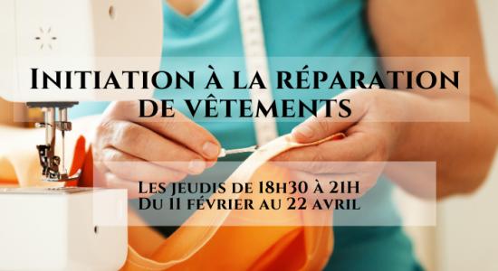 Initiation à la réparation et à la revalorisation de vêtements