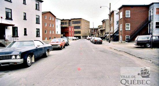 Limoilou dans les années 1980 (21)  : rue Le Jeune et école Stadacona - Jean Cazes
