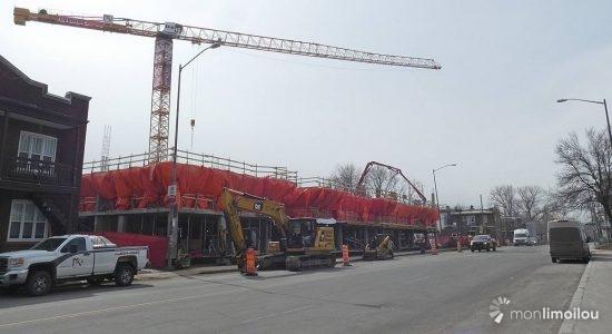 Construction des Habitations Marie-Clarisse. 24 mars 2021.