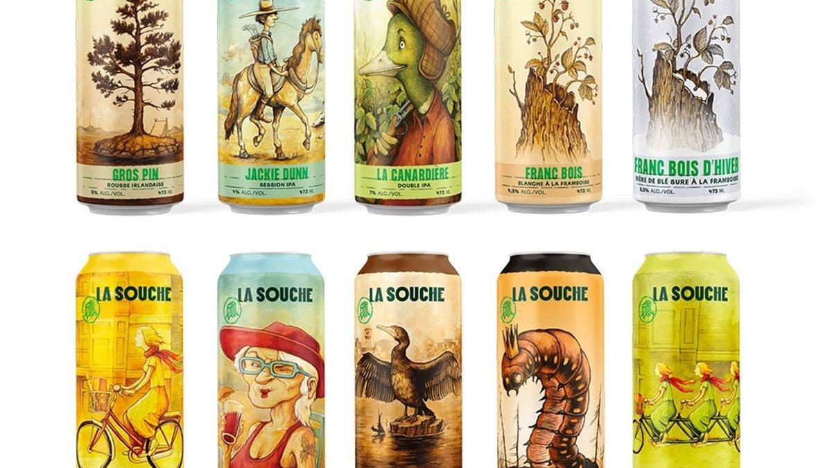 Images des canettes de la brasserie La Souche.