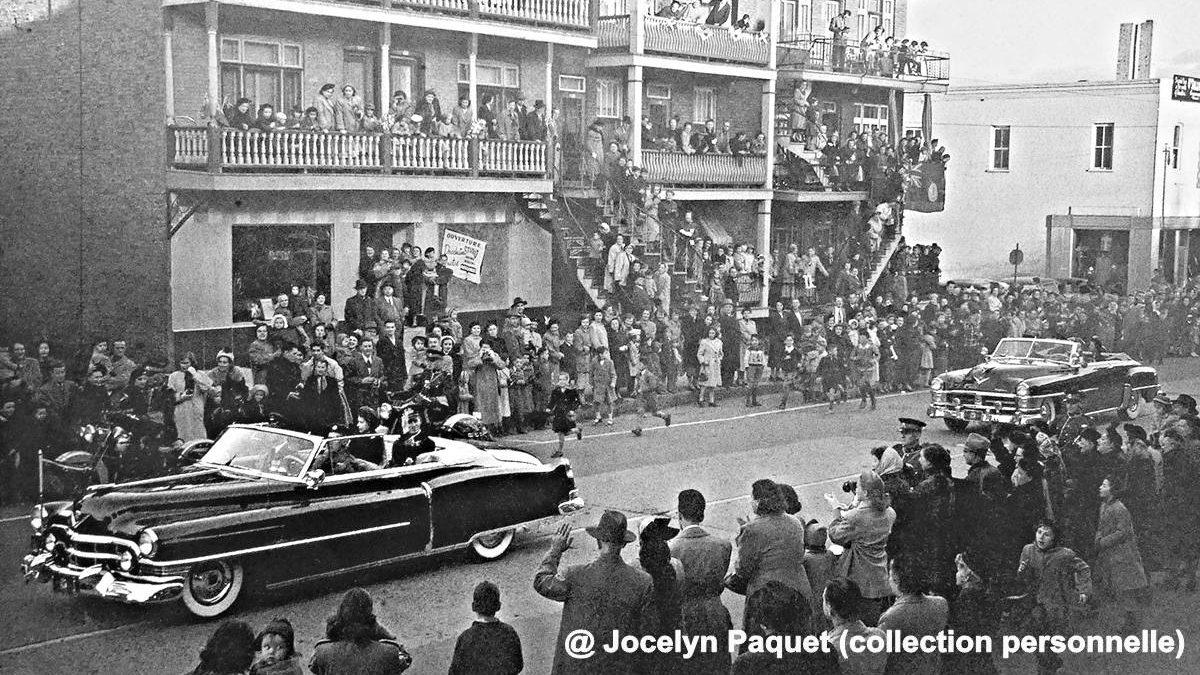 Limoilou dans les années 1950 (48) : accueil chaleureux au couple royal sur la 3e Avenue | 18 avril 2021 | Article par Jean Cazes