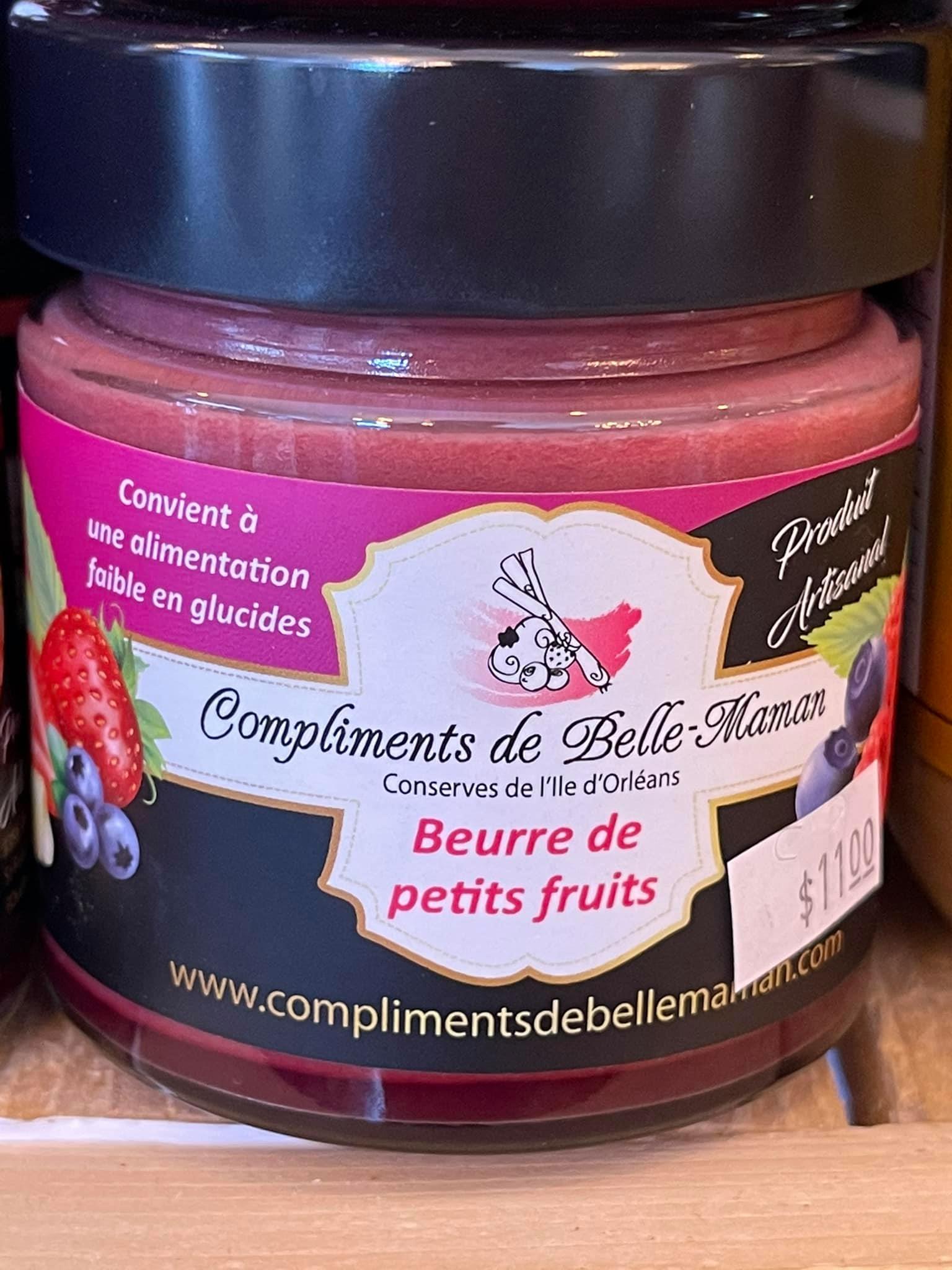 Beurre de petits fruits (convient à une alimentation faible en glucides) | Au Fruit des Moines