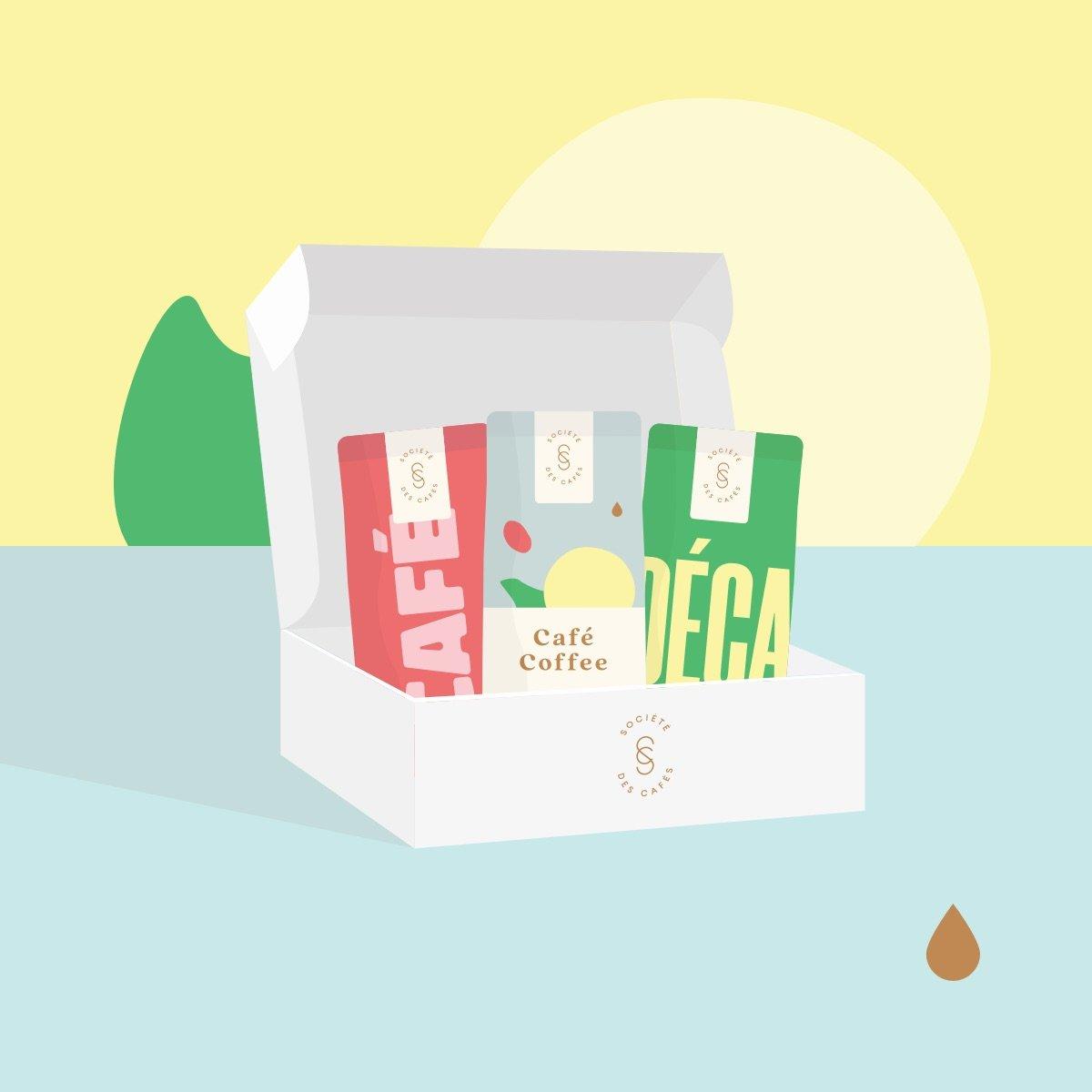 Café – Abonnement à la boîte découverte   Société des Cafés (La)